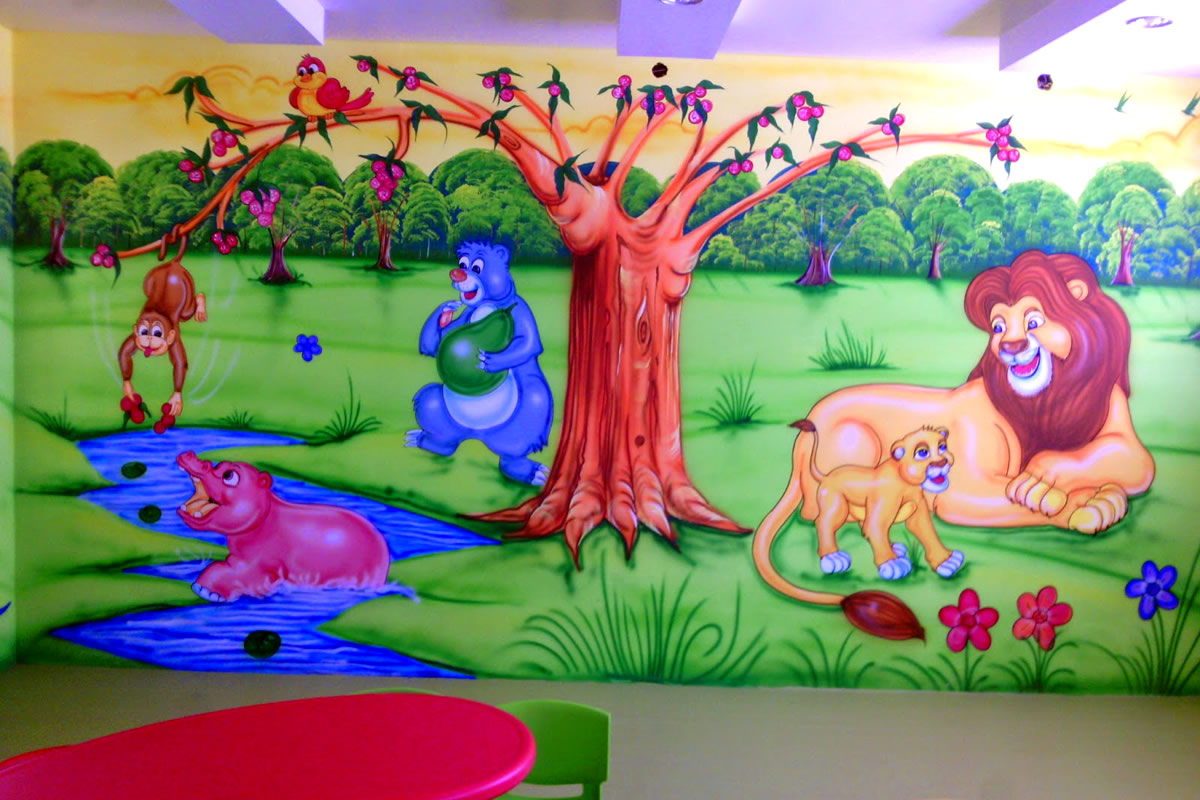 Kids Room Wallpaper Ideas For Your Kid Home Caprice Creative Play School Wall Painting 3d Cartoon Artist Kamal Solanki From Design A Room 3d Chi Timeless Magazines